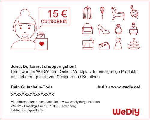 WeDiY Gutschein 15€