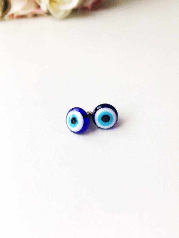Blaue Auge Ohrringe, Türkischer Schmuck Nazar Amullet Ohrstecker