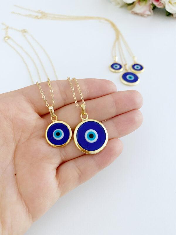 Blaue Auge Kette, Türkischer Schmuck Nazar Halskette